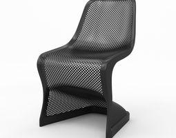 Bloom Modern Dining Chair 3D model