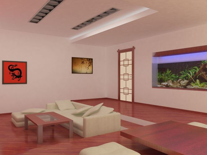 Chinese style living room 3D model interior | CGTrader