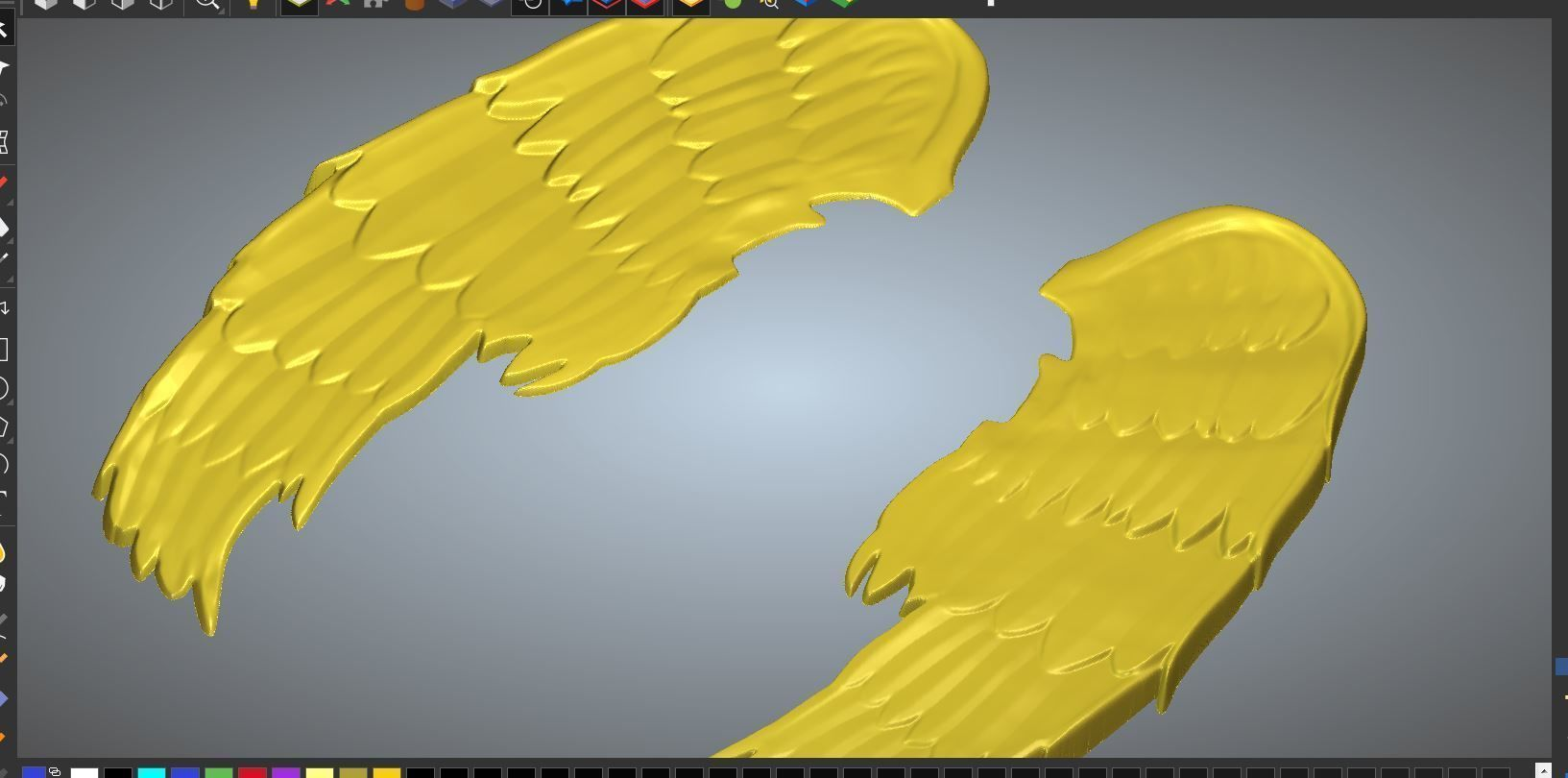 ANGEL WINGS 3D printable model angel | CGTrader