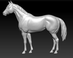 mold 3D printable model horse