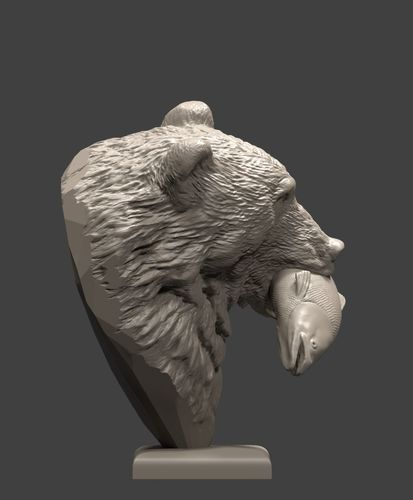 bear and salmon 1 3d model obj mtl fbx stl blend 1