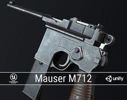 PBR Mauser M712 Schnellfeuer Machine Pistol 3D model