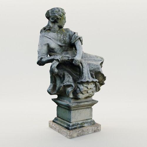 baroque garden sculpture - austria - 18th century 3d model max obj mtl fbx pdf 1