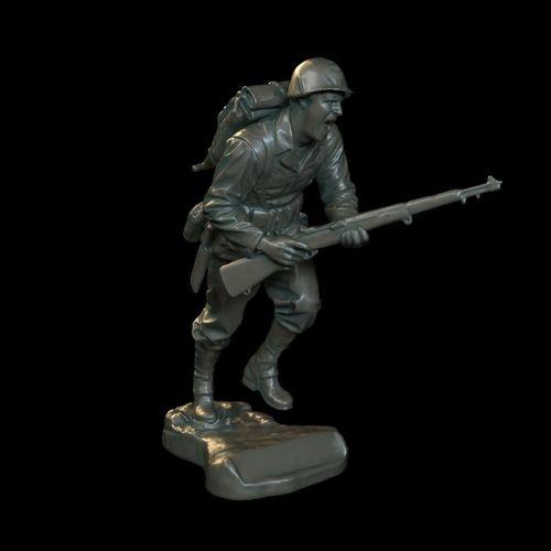 soldier sculpture 3d model max obj mtl 1