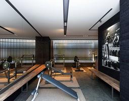 gym 3D model Fitness room