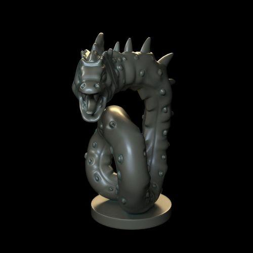 snake sculpture 3d model max obj mtl 1