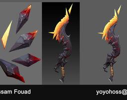 3D asset Dark Blade