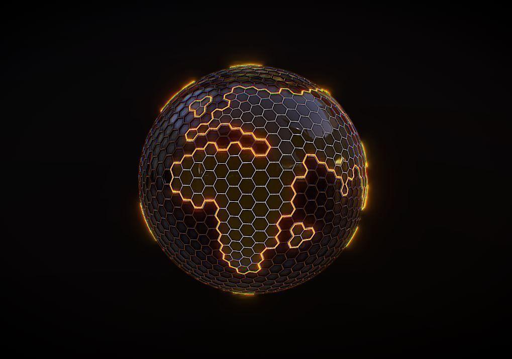 Hexagon Planet Earth