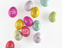 3D Easter colored eggs