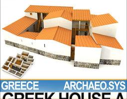 Ancient Greek House A 3D Model