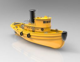 Orange Ship 3D model