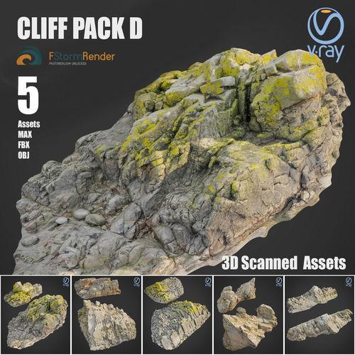 cliff pack d bundle 3d model max obj mtl fbx 1