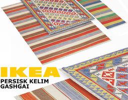 Ikea Kelim 3d ikea kopenhamn rug set cgtrader
