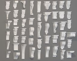 Corbels Collection -1 - 51 pieces 3D