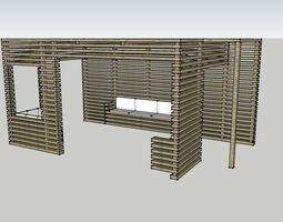 Wooden pergola 3D printable model