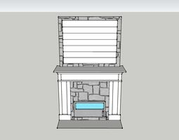 Fireplace 3D printable model