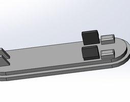 3D print model m4 buttstock pad mount