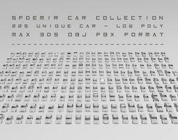 Low-Poly Car Collection 3D asset