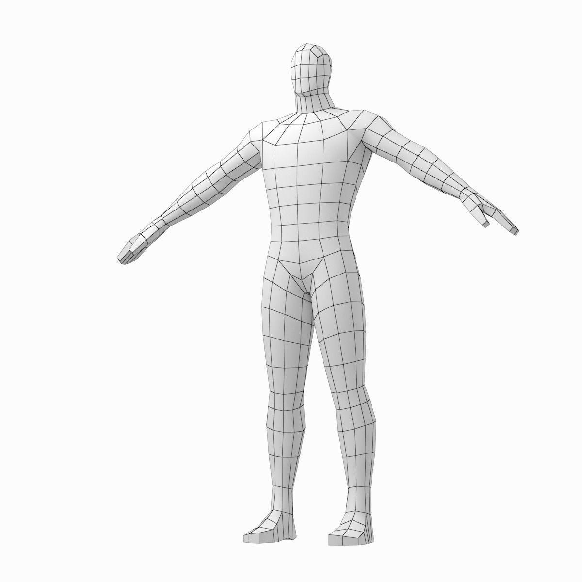 3d Model Male Hero Base Mesh In Three Poses Cgtrader