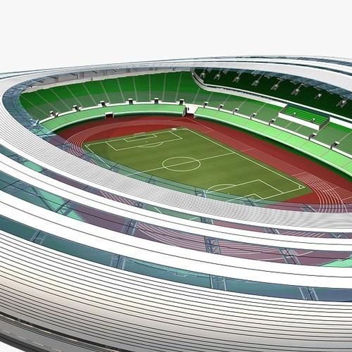 football stadium 01 3D Models - CGTrader.com