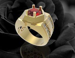 374 Luxury Diamond Ring for Men 3D printable model
