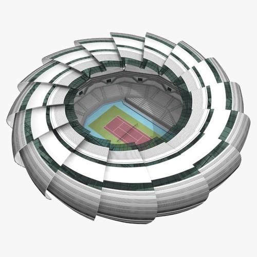 Tennis Court3D model