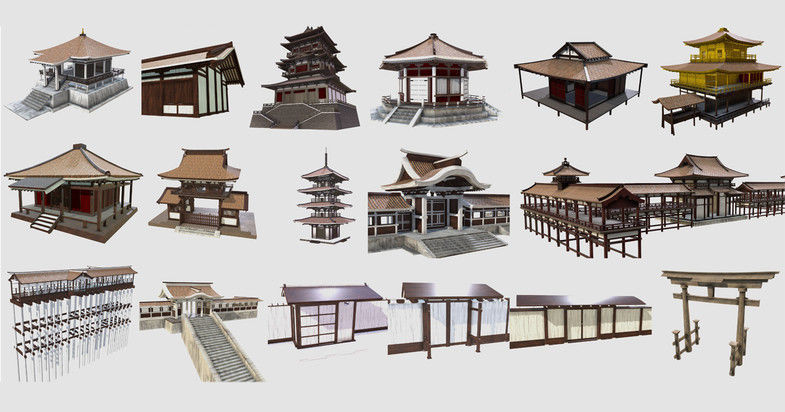 PBR Asian Buildings Collection