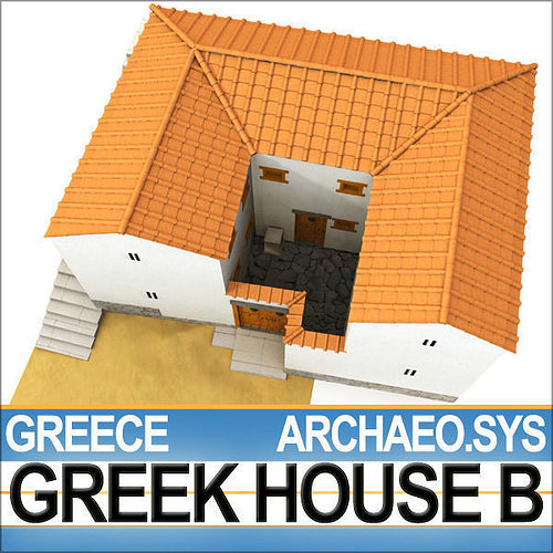 Model of an ancient greek house