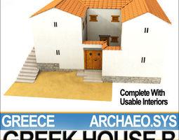 Ancient Greek House B 3D Model