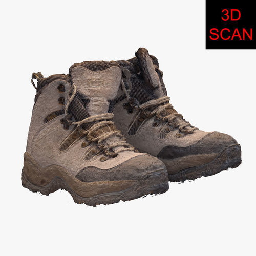 3d scan mountain boot 3d model max 1