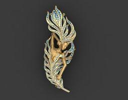 3D print model odette necklace silver