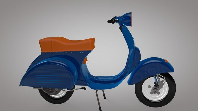 Low-Poly  Vespa Scooter low-poly 3D Model