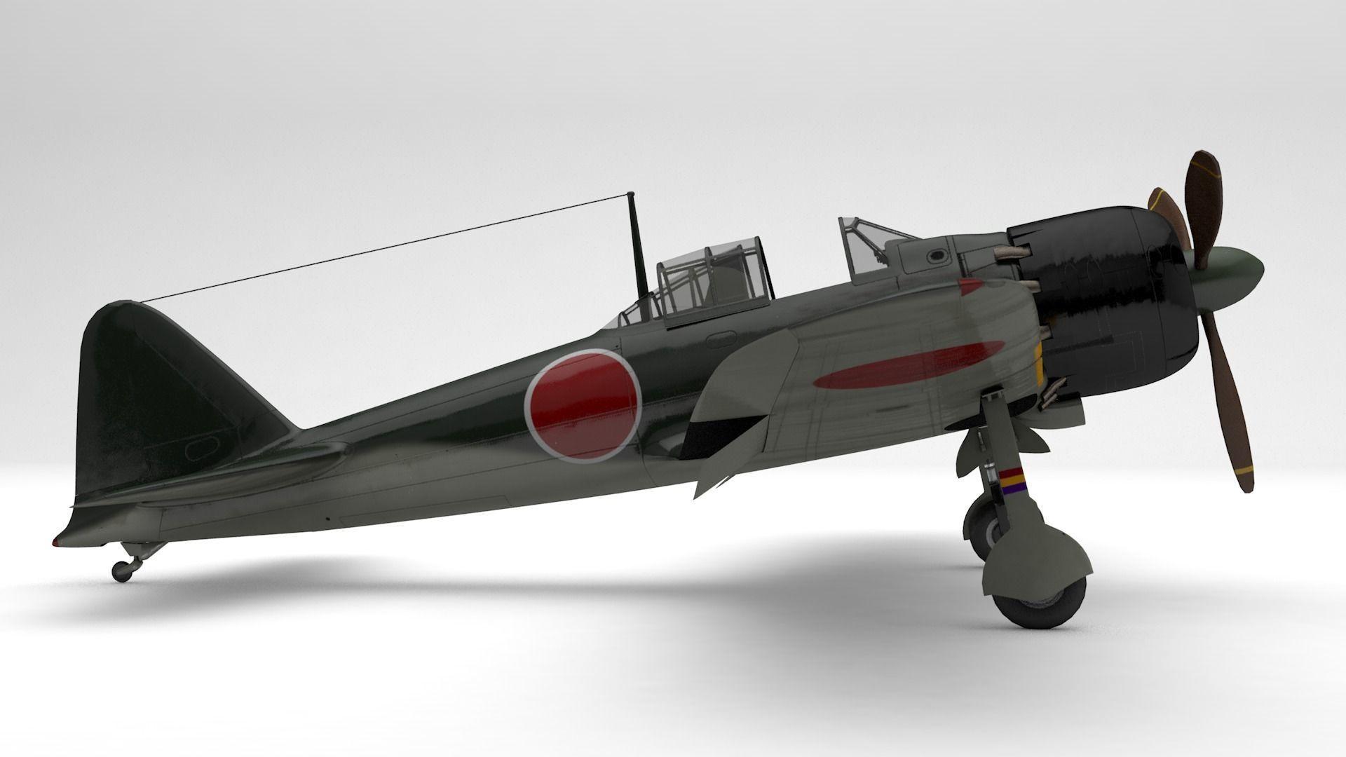 A6M5 Japanese Zero WWII Fighter -PBR UE4-