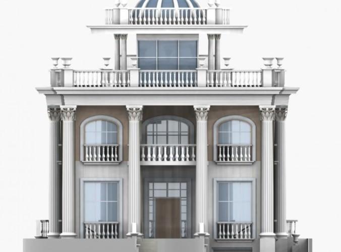 Villa 0043 3d model max obj 3ds for Villas 3d model
