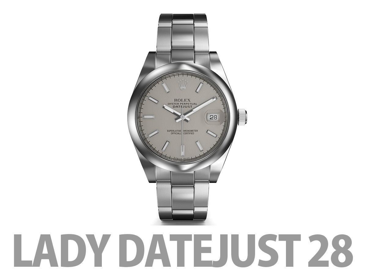Rolex Lady Datejust 28 Watch 3d Model