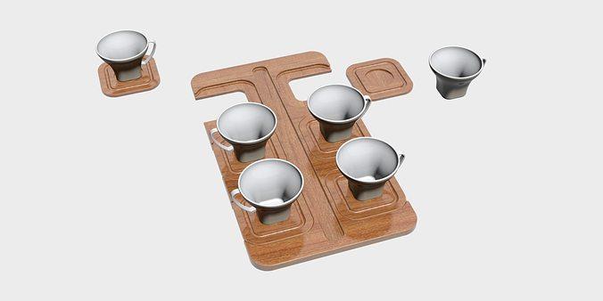 coffee cups 3d model max obj mtl 3ds fbx stp 1