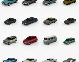 Low Poly Cars Pack Vol 1 3D model
