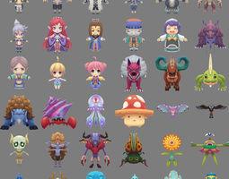 More than 360 cartoon 3D game model 3D Model