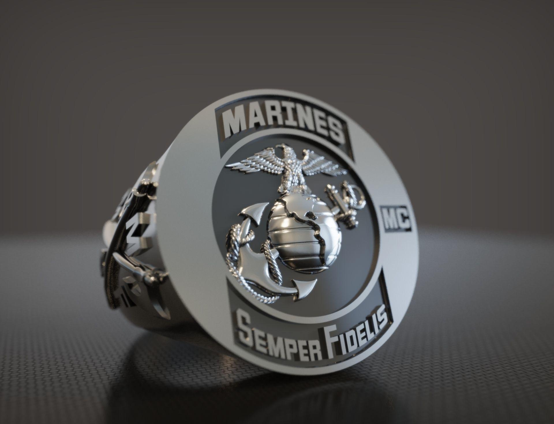 Ring Marines Semper Fidelis