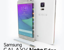 3D Samsung Galaxy Note Edge White