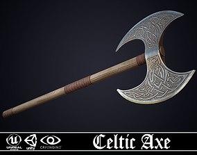 Celtic Axe - game ready model 3D asset