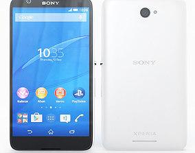 3D Sony Xperia E4 White