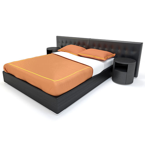Modern bed 3d model pillow cgtrader for 3ds max bed model
