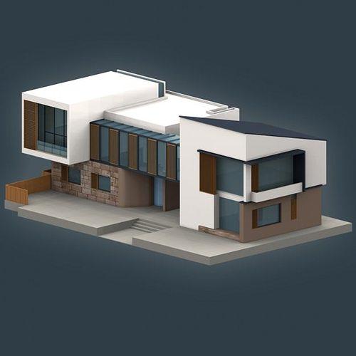 Exterior 3d model villa cgtrader for Villas 3d model