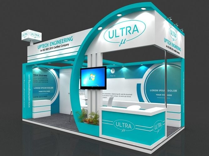 D Model Of Exhibition Stall : Exhibition stall d model mtr sides open