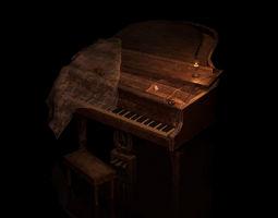 Piano 3D asset
