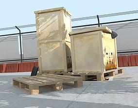 3D models pallets and crates exterior