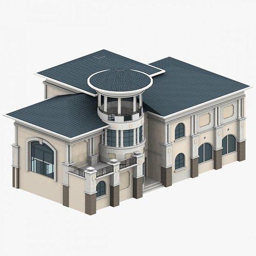 Structural 3d villa cgtrader for Villas 3d model