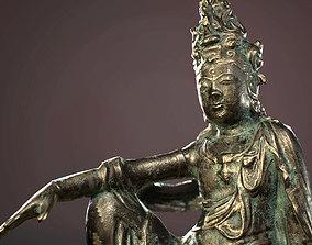 Budha Bronze statue01 3D asset