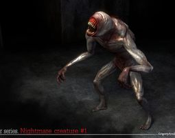 3D asset Nightmare Creature 1